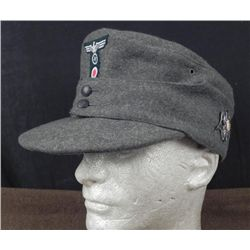 NAZI WEHRMACHT M43 BERGMUETZE/MOUNTAIN TROOPS CAP