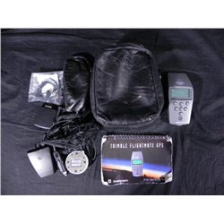 Trimble Flightmate GPS Pilot Navigation in Leather Case