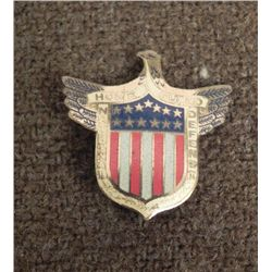 "WWII ""HOME GUARD-NATIONAL DEFENSE"" PIN/BADGE W/EAGLE"