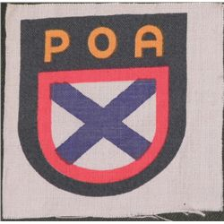 ORIG POA PATCH FOR RUSSIAN VOLUNTEERS TO NAZI WEHRMACHT