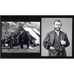 2 Photos Civil War Abraham Lincoln, Ulysses S. Grant