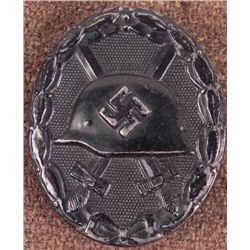 GENUINE WWII NAZI BLACK WOUND BADGE L/53- ORIG NICE