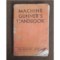 "WWII 1942 ""MACHINE GUNNER'S HANDBOOK""-H-386TH INFANTRY"