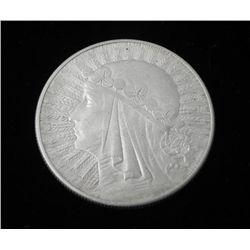 Poland 10 Zlotych Silver Coin 1932-Very Hi Grade Maiden