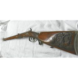 OUTSTANDING GERMAN SCHUETZEN JAEGER RIFLE-CARVED
