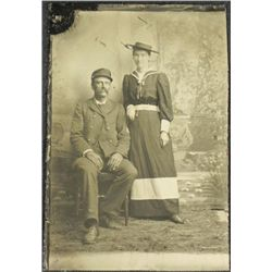Antique Tintype Photo 1800s Naval Soldier Civil War?