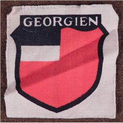 NAZI OCCUPIED  GEORGIEN  PATCH TO BE WORN BY MILITARY