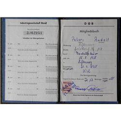 EX-NAZI RUDOLF PETERS 1958 WORK PASS WEST GERMANY