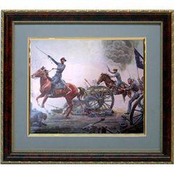 Mort Kunstler Frmd Print Civil War First to the Guns