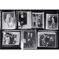 7) Original Kennedy Press Photos Joan and Sen Edward