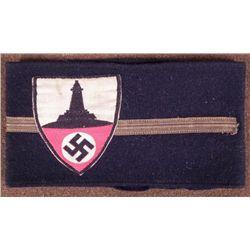 RARE NAZI VETERAN LEADER BLACK WOOL ARMBAND GREAT ORIG