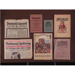 7 GERMAN EARLY 1900 BOOKS, 1965 HITLER ARTICLE-HOFBRAUH
