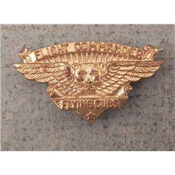 Rare Vintage Flight Commander Flying Cubs Badge Pin