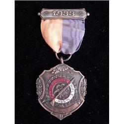 Illinois State Rifle Association 1933 Bronze Medal