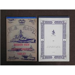 WWII US NAVY WRITING PAPER-1 TABLET WITH USN LETTERHEAD