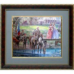 Mort Kunstler Civil War Print Framd General Lee Bel Air