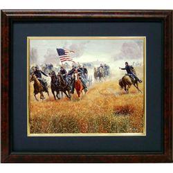 Mort Kunstler Civil War Frmd Print Dilger at Gettysburg