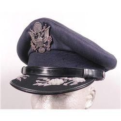 ORIG POST-WAR 1940'S OFFICER'S CRUSHER VISOR CAP CBI
