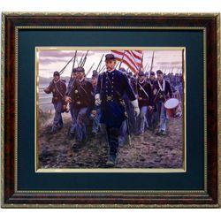 Mort KunstlerCivil War Print Frmd Gettysburg 20th Maine