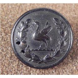 Firmin London Antique Rubber Button w/ Bird 1800s