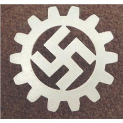 ORIG DAF NAZI CAP INSIGNIA-DEUTSCHES ARBEITS FRONT-GEAR