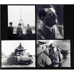 4 WWII Photos w/ Nazi Leaders: Hitler, Rommel