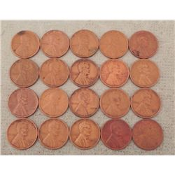 20 Lincoln Wheat Cents 8 S Mint: 1940s, 12: 1918-1939
