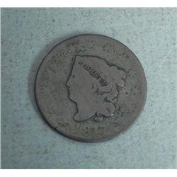 1817 U.S. Large Coronet Cent -Full Date, Full Liberty