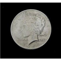 1924 Silver Peace Dollar -Nice Coin, Luster