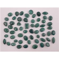 MAJESTIC 175..00 CTTW LOT OF NATURAL GREEN EMERALDS