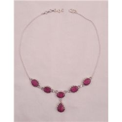 VERY IMPRESSIVE 68.50 CT NATURAL RED RUBY NECKLACE
