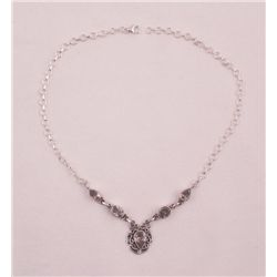 SPARKLING BRIGHT PINK TOPAZ NECKLACE 33 CTS