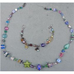Tropical Starfish and Bead Strand Necklace & Bracelet