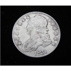 1831 US. Capped Bust Half Dollar Luster Very High Grade