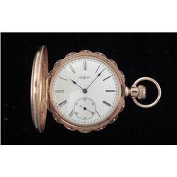 1884 Elgin 14K Gold Antique HC Pocket Watch