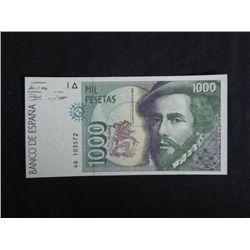 Spain Paper Currency 1000 Pestas -Uncirculated