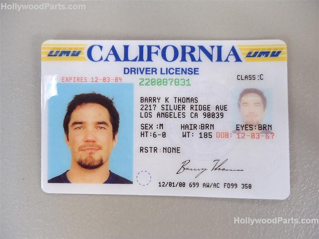 Driver's Id Time Of Fake dean License Out And Cain Chris Cards Prop Harrison