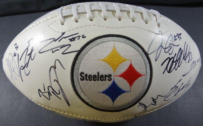 01598a70a Steelers Team AUTOGRAPHED Logo Football