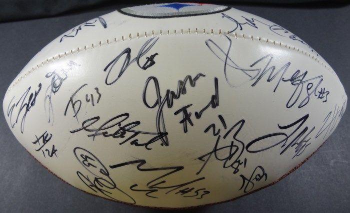 d54d68653 ... Image 2 : Steelers Team AUTOGRAPHED Logo Football ...