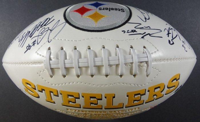 4667cccfc ... Image 4 : Steelers Team AUTOGRAPHED Logo Football