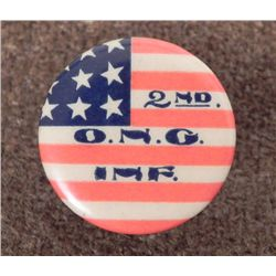 WWI 2ND OHIO NATIONAL GUARD INFANTRY LAPEL BUTTON