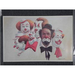 Robert Owen Clown Print -Burbank Six