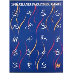 Interesting 1996 Paralympics PICTOGRAMS Poster