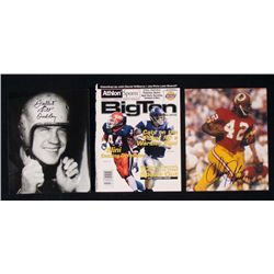 3) Washington Redskins Signed Photos Bill Dudley