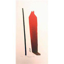 Mackenzie Thorpe 'A TELEGRAPH POLE' Lithograph