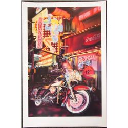 Gucwa KING & I Motorcycle Art LE Mixed Media Print