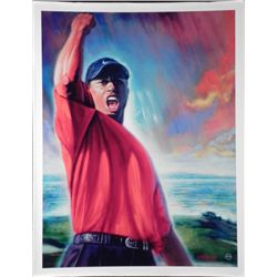 Carlo Beninati Tiger Woods Golf Art Print on Canvas