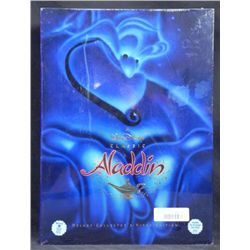 Aladdin Disney Deluxe Video w/ Art Prints, Book MIB