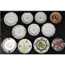 10 Vintage China Plates England, Japan, Bavaria