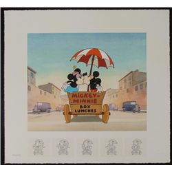Mickey & Minnie Mouse Art Print Building a Romance